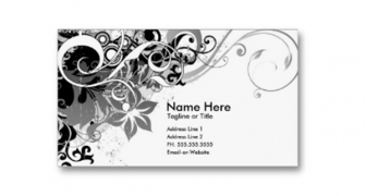 Single Sided Business Cards